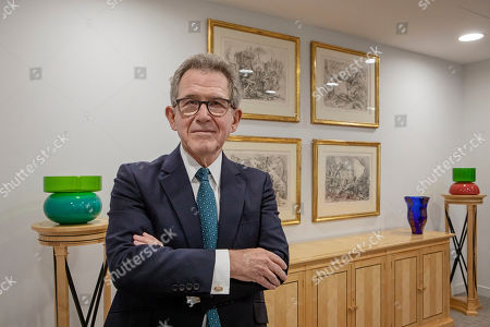 Editorial picture of Lord John Browne photoshoot at his Mayfair office, London, UK - 05 Mar 2019