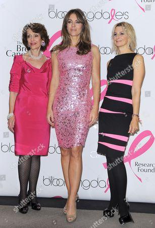 Evelyn Lauder, Elizabeth Hurley and Marisa Acocella Marchetto