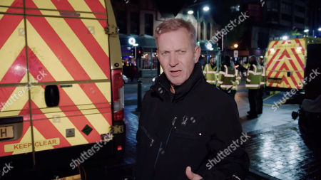 Stock Photo of Jeremy Kyle goes out with West Midlands Ambulance Service to see the impact alcohol has on emergency services