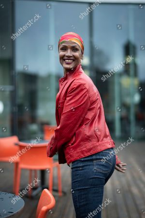 "The Somali-Austrian model Waris Dirie poses after a media conference of the Theater St. Gallen, in St. Gallen, Switzerland, 07 March 2019, . The musical ""Desert Flower"" will be performed at the theatre in February 2020. It is based on the autobiography of Waris Dirie."