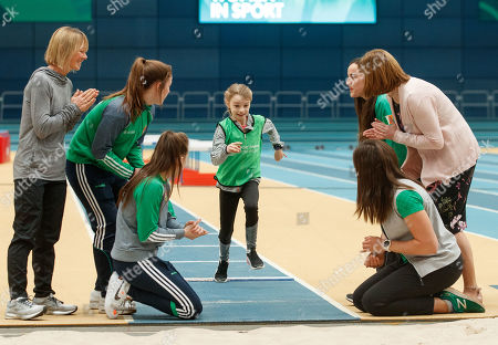 Stock Photo of Sport Ireland today launched a new Women in Sport Policy which aims to achieve equal participation between males and females in sport. Coaching and Officiating, Active Participation, Leadership and Governance and Visibility are the four key target areas that will be addressed by Sport Ireland's new Women in Sport Policy. Pictured are (L-R) Carey May (former Irish Marathon Olympian), Grainne Walsh (Boxing), Michaela Walsh (Boxing), Clare Ryan (Swim Ireland), Annalise Murphy (Sailing) and Dr. Una May (Director of Participation and Ethics, Sport Ireland)