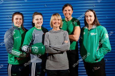 Stock Image of Sport Ireland today launched a new Women in Sport Policy which aims to achieve equal participation between males and females in sport. Coaching and Officiating, Active Participation, Leadership and Governance and Visibility are the four key target areas that will be addressed by Sport Ireland's new Women in Sport Policy. Pictured are (L-R) Grainne Walsh (Boxing), Michaela Walsh (Boxing), Carey May (former Irish Marathon Olympian), Annalise Murphy (Sailing) and Clare Ryan (Swim Ireland)