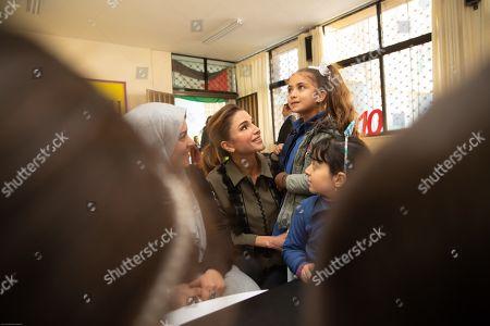 Her Majesty Queen Rania Al Abdullah launched online educational platform Edraak's mathematics curricula for kindergarten to grade five (K-5) at Sweifieh Secondary School for Girls.