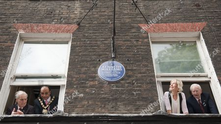 Editorial image of Unveiling of Blue Plaque to honour the British Comedian Kenneth Williams at his childhood home in Marchmont Street in London, Britain - 11 Oct 2009