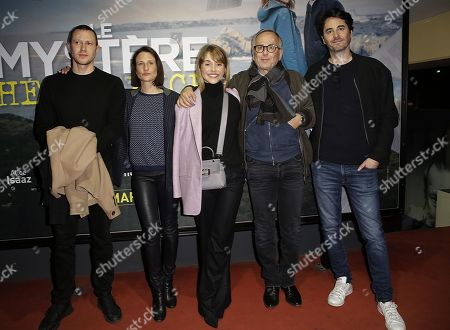Fabrice Luchini, second right and Alice Isaaz, Camille Cottin