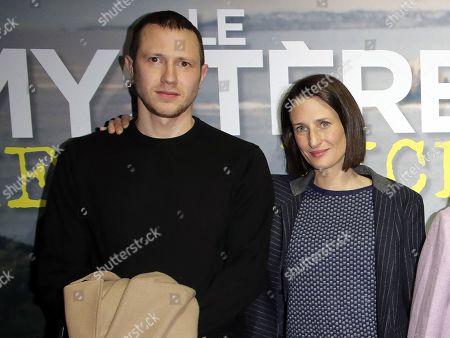 Stock Picture of Bastien Bouillon and Camille Cottin