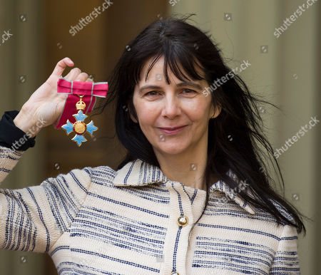 Gillian Wearing with her CBE