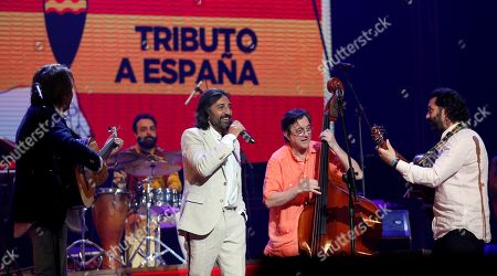 The Spanish music band Ketama with lead vocalist Antonio Carmona (C) perform at the Karl Marx Theater in Havana, Cuba, 07 March 2019. The band had their first recital in Latin America since their return to the stage, after a hiatus of 14 years.