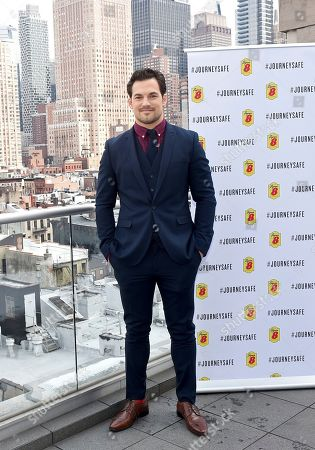 Giacomo Gianniotti, philanthropist and actor, poses at Super 8 by Wyndham's Journey Safe event on in New York. The event marks launch of the brand's new campaign, #JourneySafe, which aims to sound the alarm on drowsy driving timed to Daylight Saving and National Sleep Awareness Month. Visit Super8.com/journeysafe to learn more