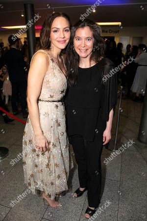 Katharine McPhee (Jenna Hunterson) and Diane Paulus (Director)