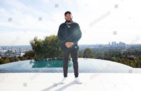 Boi-1da poses for a portrait in Los Angeles