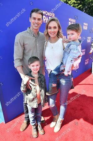 Stock Picture of Adam Gregory, Sheridan Gregory and family