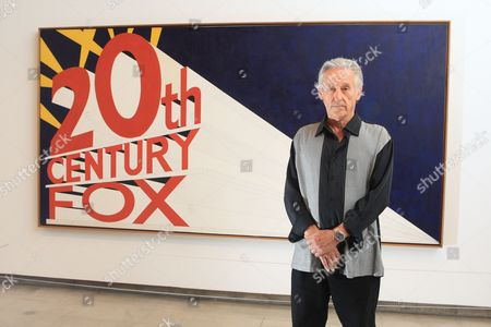 Ed Ruscha with '20th Century Fox Painting'