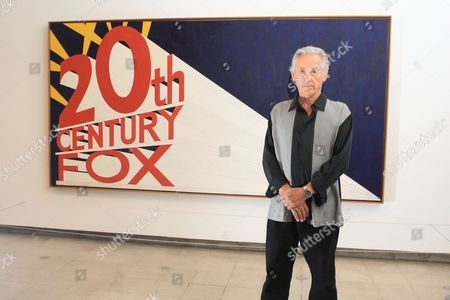 Ed Ruscha with'20th Century Fox Painting'