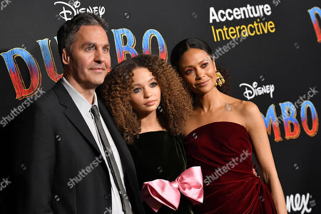 Stock Image of Ol Parker, Nico Parker and Thandie Newton