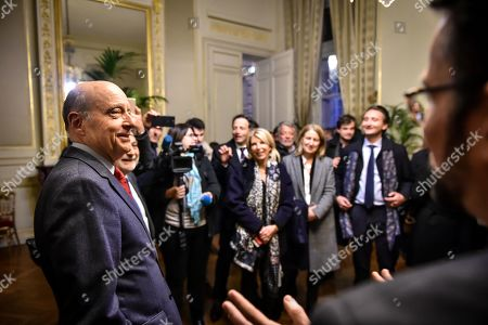 Former Bordeaux's mayor Alain Juppe, says goodbye to deputies and friends at city hall. Alain Juppe resigned from his mayor position and will become member of the Constitutional Council, the country's highest constitutional authority