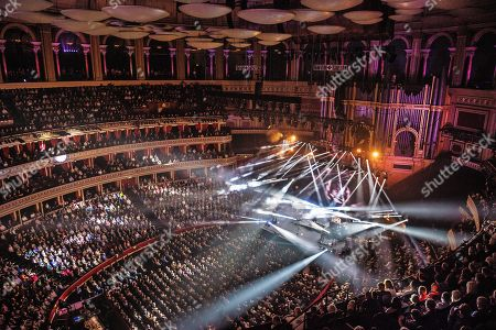 London United Kingdom - October 13: English Progressive Rock Group Marillion Performing Live On Stage At The Royal Albert Hall In London England On October 13