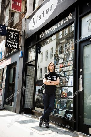London United Kingdom - July 6: Portrait Of English Musician And Producer Steven Wilson Photographed At Sister Ray Records In London England On July 6