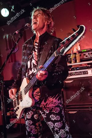 London United Kingdom - October 14: Bassist And Vocalist Martin Turner Of Martin Turner Ex-wishbone Ash Performing Live On Stage At The 100 Club In London On October 14