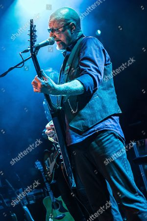 London United Kingdom - October 19: Guitarist Andy Powell Of English Rock Group Wishbone Ash Performing Live On Stage At The O2 Academy Islington In London On October 19