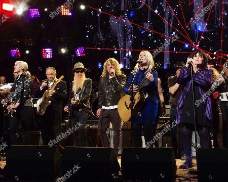 Billy F. Gibbons, Robert Plant, Sheryl Crow, Nancy Wilson, Ann Wilson, Marcus King, Grace Potter, Hozier and Bernie Wiliams