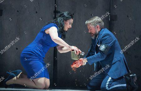 Madeleine Pierard as Lady Macbeth, Grant Doyle as Macbeth
