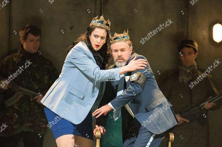 Stock Photo of Madeleine Pierard as Lady Macbeth, Grant Doyle as Macbeth