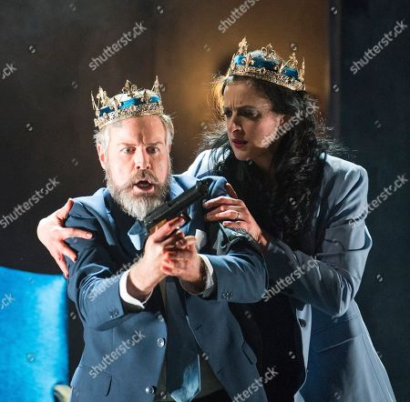 Stock Picture of Madeleine Pierard as Lady Macbeth, Grant Doyle as Macbeth