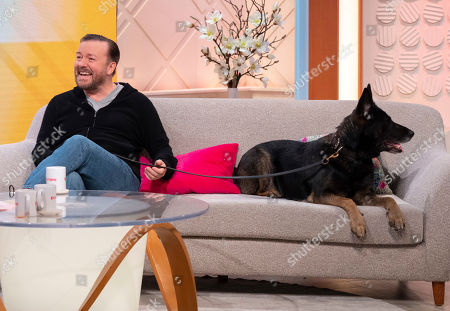 Ricky Gervais and dog called Auntie