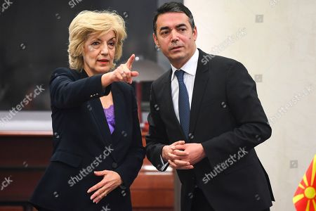 Editorial image of Greek Alternate Foreign Minister Anagnostopoulou  visits North Macedonia, Skopje, Macedonia, The Former Yugoslav Republic Of - 08 Mar 2019