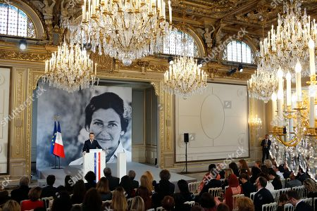 Editorial picture of Simone Veil prize at the Elysee Palace on International Women's Day, Paris, Fra - 08 Mar 2019