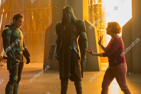 Jude Law as Yon-Rogg, Lee Pace as Ronan and Anna Boden Director