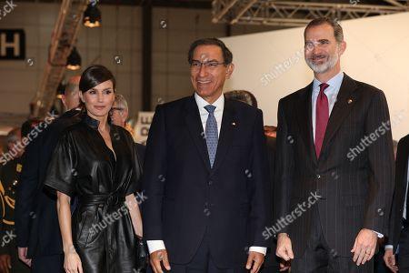 Queen Letizia, Martin Vizcarra and King Felipe VI