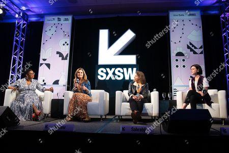 Ashley C. Ford, Maria Shriver, Farida Sohrabji, and Alexandra Socha speak at the Austin Convention Center during SXSW