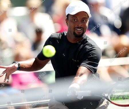 Donald Young of the US in action against Hubert Hurkacz of Poland during the BNP Paribas Open tennis tournament at the Indian Wells Tennis Garden in Indian Wells, California, USA, 08 March 2019. The men's and women's final will be played, 17 March 2019.