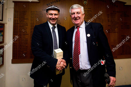 England U20 Physio Gary Edwards receives a cap after making his 100th cap