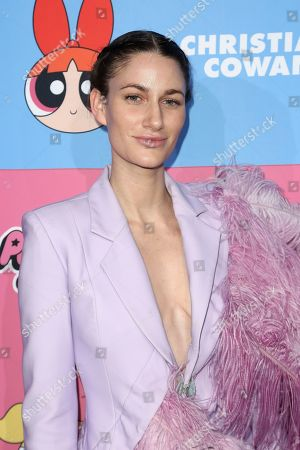 Niia Bertino arrives at the Christian Cowan x The Powerpuff Girls Fashion Show, in Los Angeles