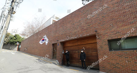 Editorial image of Police officers guard South Korean former President Lee's home, Seoul, Korea - 09 Mar 2019