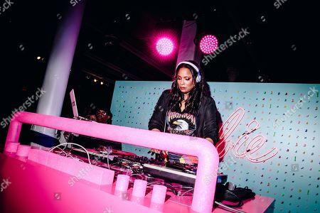 Stock Photo of DJ Spinderella