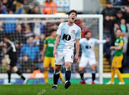 Richard Smallwood of Blackburn Rovers reacts