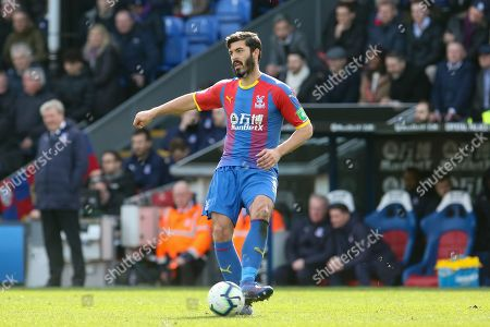 Crystal Palace #5 James Tomkins during the Premier League match between Crystal Palace and Brighton and Hove Albion at Selhurst Park, London