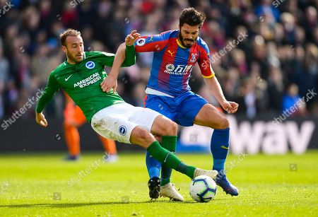 Glenn Murray of Brighton and Hove Albion and James Tomkins of Crystal Palace