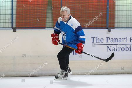 The legendary Russian, international ice hockey player and United Nations Environment Patron for Polar regions Slava Fetisov in action during an ice hockey match against Kenya's 'Ice Lions' ice hockey team and the last team game ahead of the 4th UN Environment Assembly (UNEA), in Nairobi, Kenya, 09 March 2019. The match was among events that UN Environment had planned before the last ice hockey game that they are planning to be played in the Arctic in April 2020, that is meant to draw global attention and support to the rapid climate change in the polar regions that affects large parts of the planet, leading to rising global sea levels, floods and droughts.