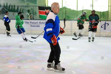Editorial image of Legendary ice hockey player Slava Fetisov plays Kenya's ice hockey team in Nairobi - 09 Mar 2019