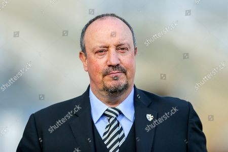 Newcastle United manager Rafael Benitez arrives ahead of the Premier League match between Newcastle United and Everton at St. James's Park, Newcastle