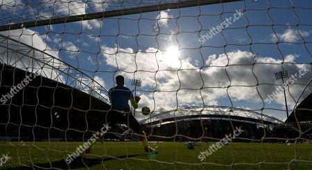 Jonas Lossl goalkeeper of Huddersfield Town during the warm up