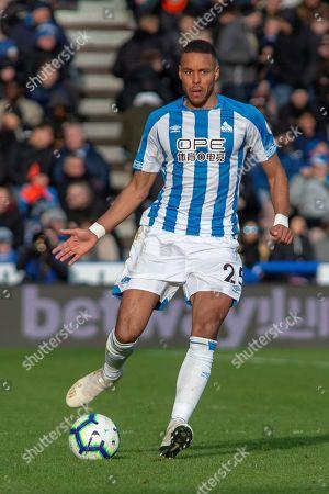 Mathias Zanka Jorgensen of Huddersfield Town during the Premier League match between Huddersfield Town and Bournemouth at the John Smiths Stadium, Huddersfield