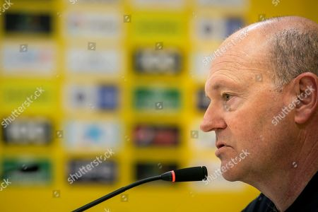 UD Las Palmas' new head coach, Pepe Mel, attends a press conference in Las Palmas, Canary Islands, Spain, 09 March 2019. UD Las Palmas wil be facing Deportivo de la Coruna in a Spanish Second Division soccer match on 10 March 2019.