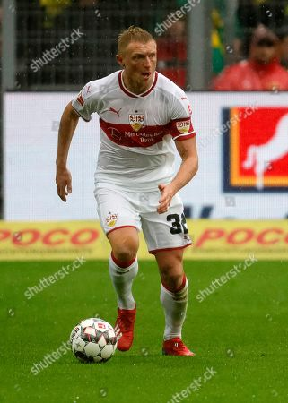 Stuttgart's Andreas Beck in action during the German Bundesliga soccer match between Borussia Dortmund and and VfB Stuttgart in Dortmund, Germany, 09 March 2019.
