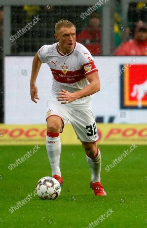 Stock Photo of Stuttgart's Andreas Beck in action during the German Bundesliga soccer match between Borussia Dortmund and and VfB Stuttgart in Dortmund, Germany, 09 March 2019.